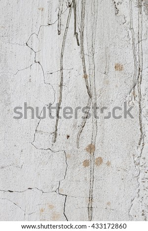 White cracked  wall background