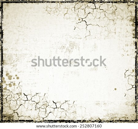 White cracked wall texture background - stock photo