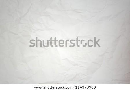 white creased paper texture, macro shot - stock photo