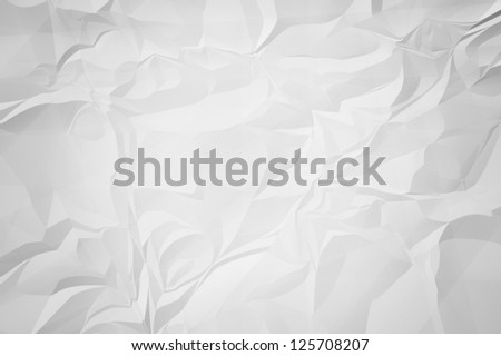 White crinkle paper for background.