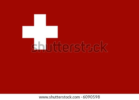 Red Heart White Background White Cross on Red Background