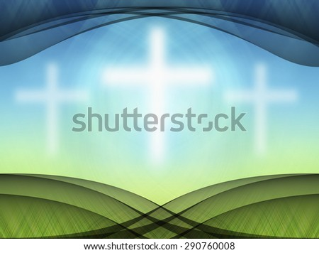 White Crosses Abstract background - stock photo