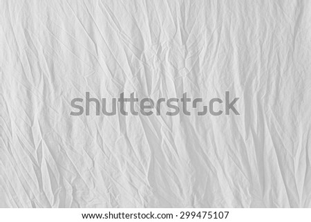 White Crumpled Cotton Fabric Texture