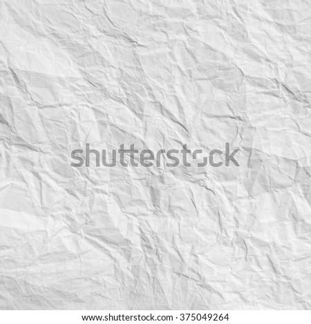 White crumpled paper - stock photo