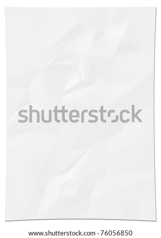 white crumpled paper - stock photo