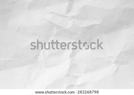 White crumpled paper for background - stock photo