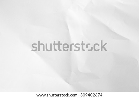 White crumpled paper for background. - stock photo