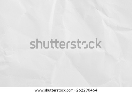 White crumpled paper for texture or background. - stock photo