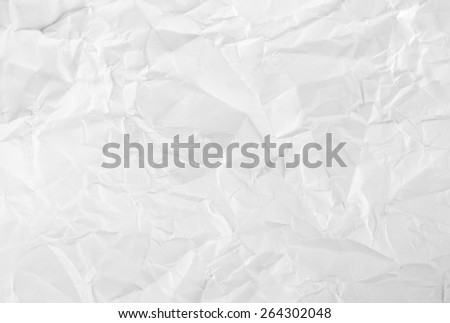 White crumpled paper for texture or background - stock photo