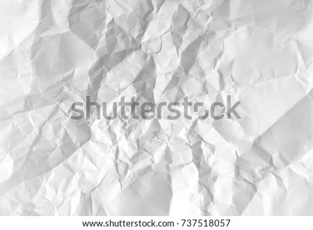 White crumpled paper, high resolution background