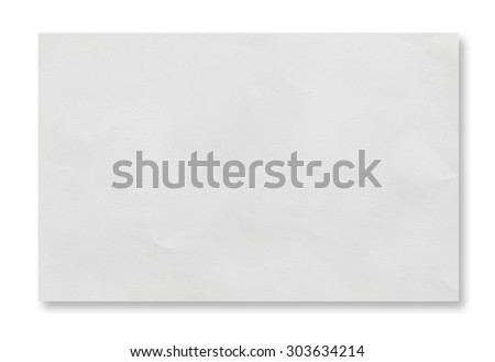 White crumpled paper on white background