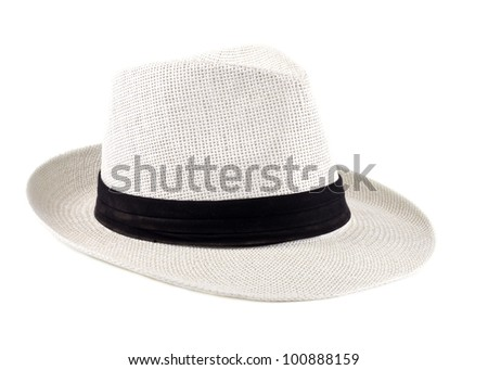 White Cuban Hat Isolated