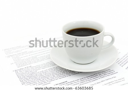 White cup of cappuccino - stock photo