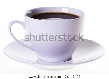 white cup of coffee - stock photo