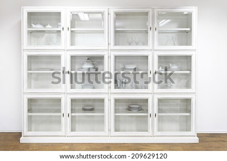 Genial White Cupboard Display Cabinet With Glass Doors