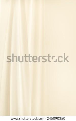 white curtain on white wall background - stock photo