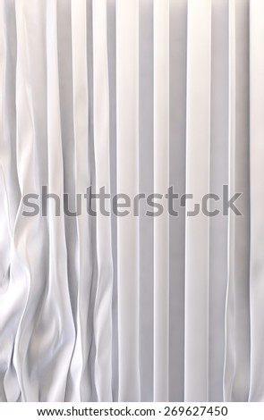 White curtains background - stock photo