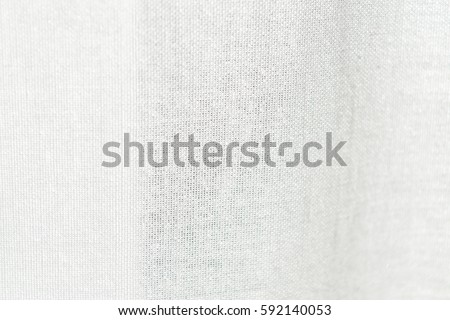 White Curtains Textured Fabric Textile Useful As A Background
