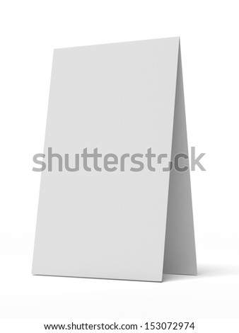 White Desk Display - stock photo
