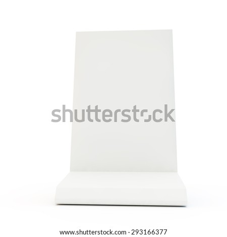 White desk display for your model