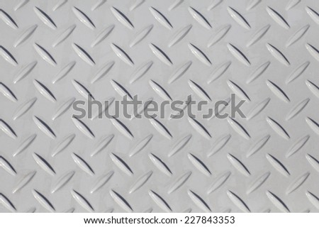 White diamond metal plate texture and background
