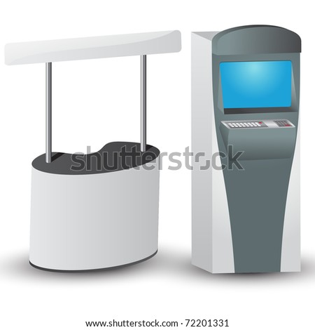 White display and ATM. Vector version available in my gallery.