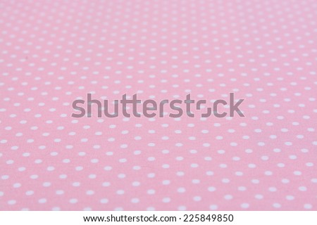 White dot pink background tablecloth - stock photo