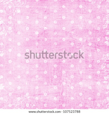 white dots on pink background - stock photo
