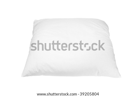 White down pillow. On a white background