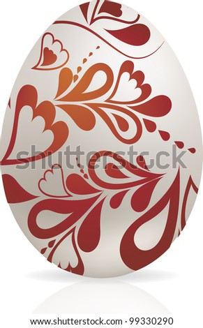 White Easter egg