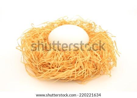 White egg - stock photo