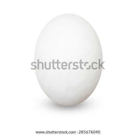 White egg - isolated on white background