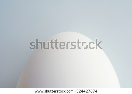 White egg on white plate,dish or blackground.  boiled.  - stock photo