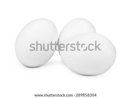 white eggs isolated on white background