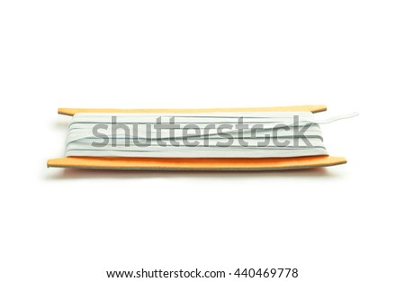 White elastic band for clothes - stock photo