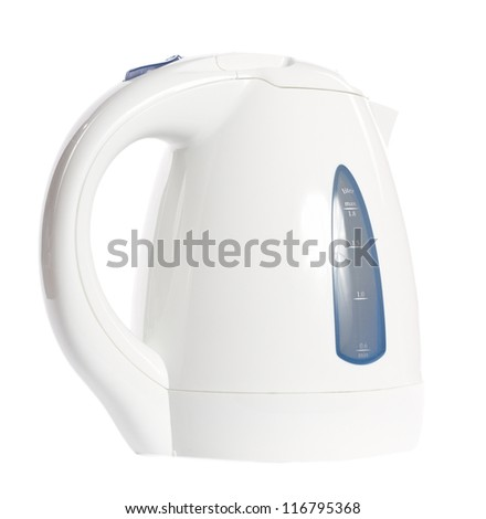 white electric kettle
