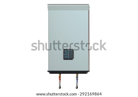 white electric water heater  isolated on white background