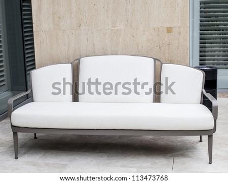 White elegant sofa. - stock photo