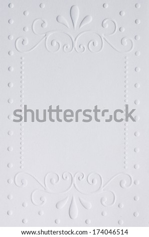 White embossed paper for invitation, weddings and love letter - stock photo