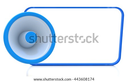 White empty board for advertisement in the design of information related to the message. 3d illustration - stock photo