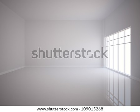 white empty interior - stock photo