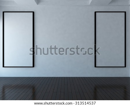 white empty interior background. 3d illustration