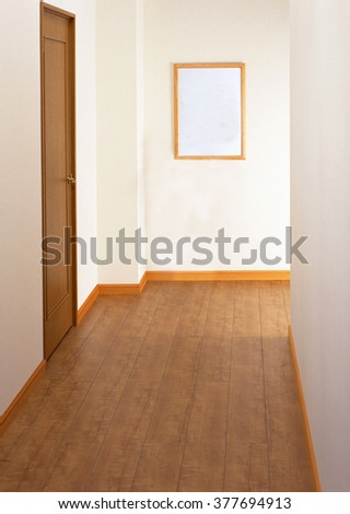 white empty interior with a door
