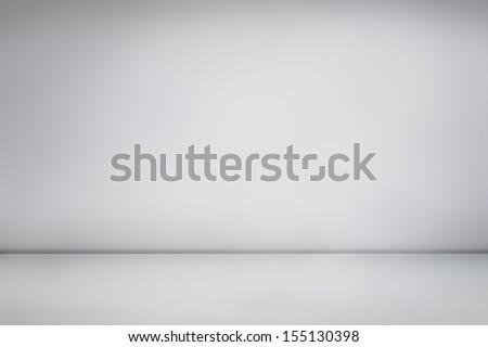White empty photo studio, empty photographer studio background - stock photo