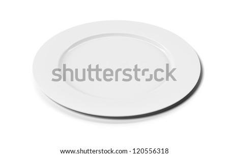 White empty plate - stock photo
