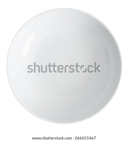 white empty plate on a white background