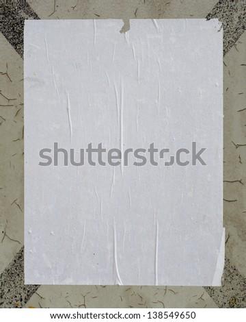 white empty street poster on grunge cross - stock photo