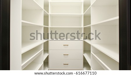 White Empty Walk In Closet