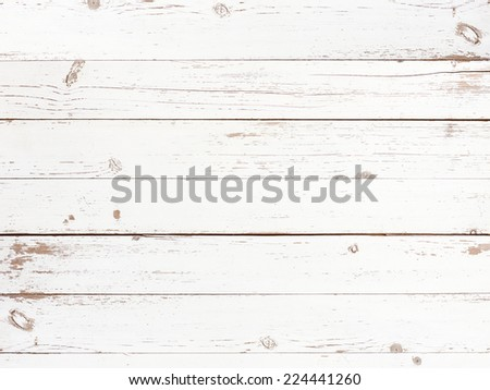 white empty wooden background - stock photo