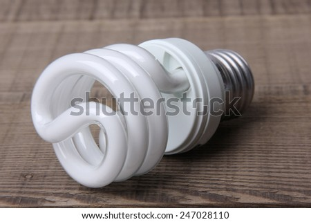 White Energy Saving Lamp - stock photo